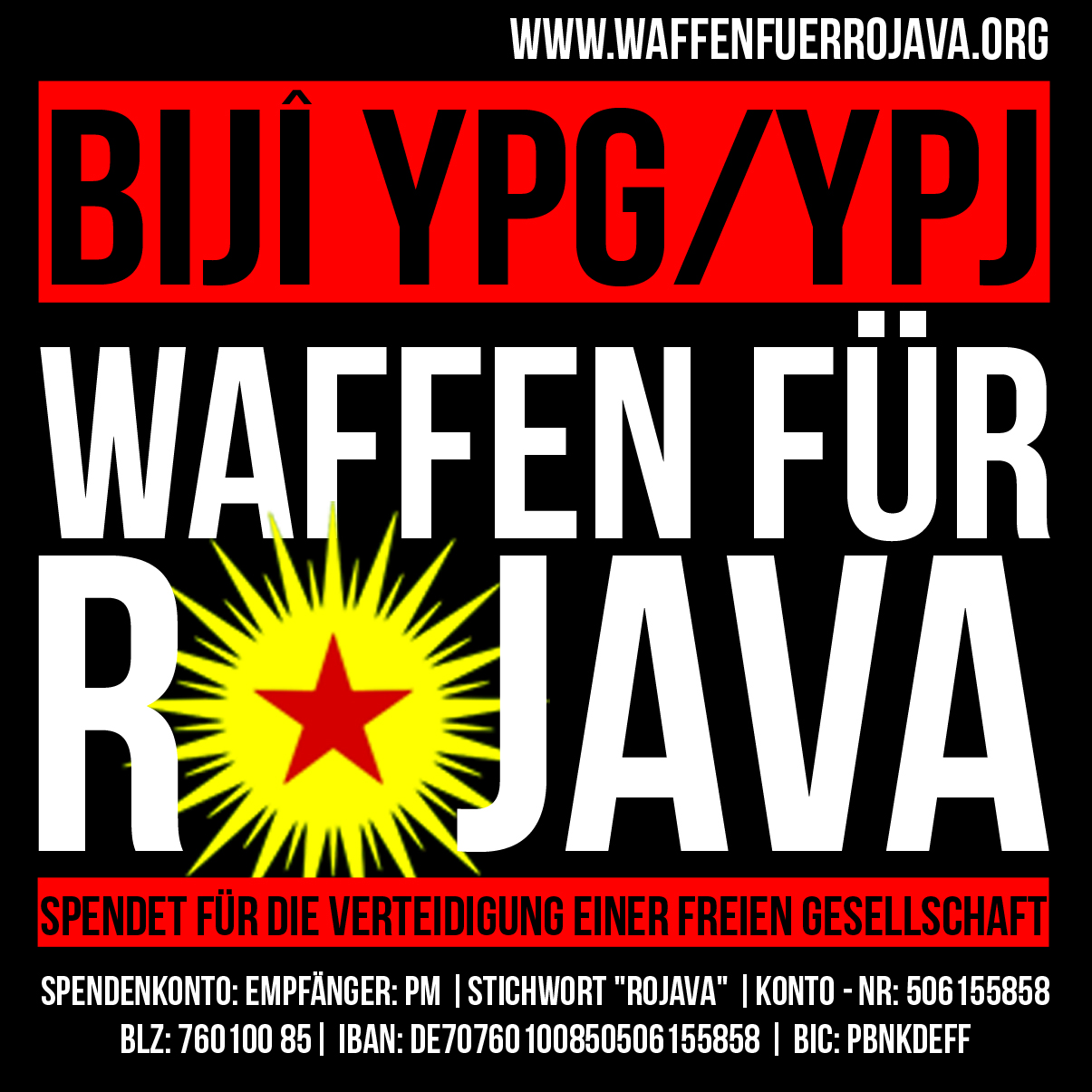 Waffen für Rojava